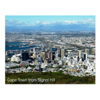 Postcard of Cape Town from Signal Hill