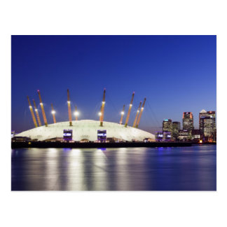 Postcard of Docklands and the Dome on the Thames