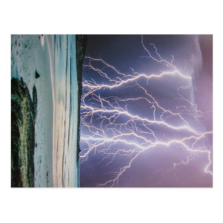 Postcard of lightnings