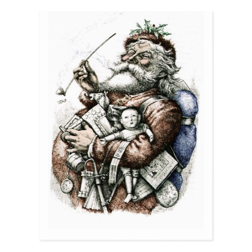 Postcard Of Nast Santa Claus