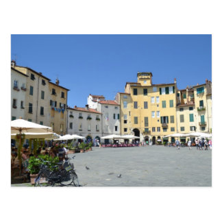 Postcard of Piazza dell'Anfiteatro in Lucca, Italy