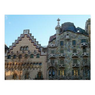 Postcard of the Batlló House de Antoni Gaudí