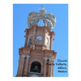 postcard of the church in Puerto Vallarta, Mexico