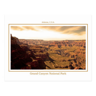Postcard of the Grand Canyon - Sepia