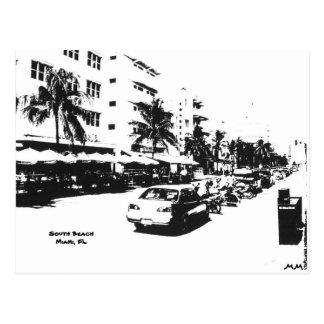Postcard of the strip in south beach, miami