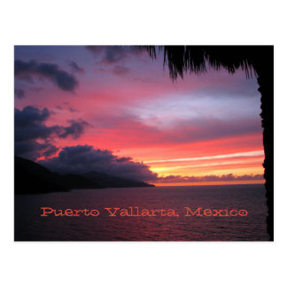 postcard of the sunset in Puerto Vallarta, Mexico