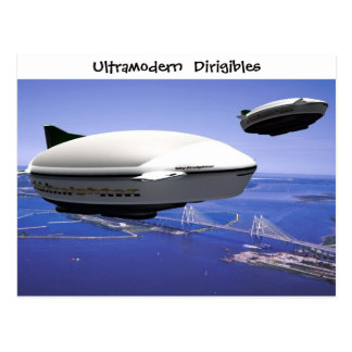 Postcard of Ultramodern Dirigibles