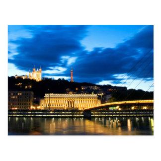 Postcard Old Lyon, the Rhone-Alps, France