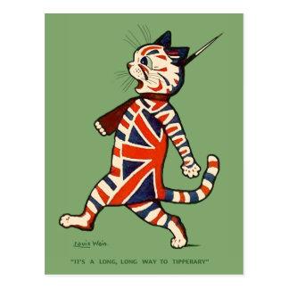 Postcard Patriotic Cat