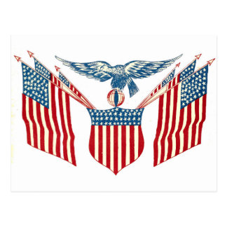 Postcard - Patriotic Eagle