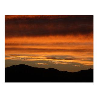 Postcard PHOTOGRAPH OF ORANGE SUNSET