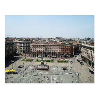 Postcard Piazza Duomo Milan, Italy