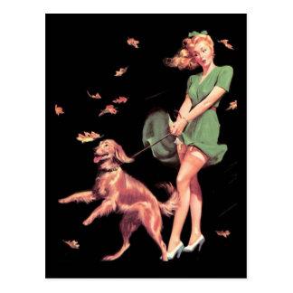 Postcard Pin up Girls Art Vintage Retro Print