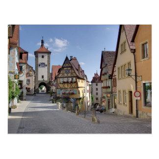 Postcard Plönlein Places, Rothenburg, Germany