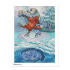 Postcard- Polar Bear & Fox-While You Were Sleeping Postcard