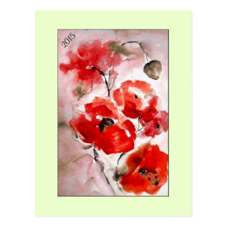 """Postcard """"Poppies for 2015"""""""