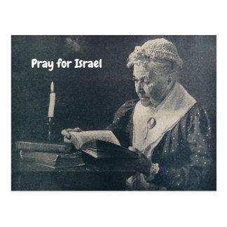POSTCARD PRAY FOR ISRAEL jEWISH MOTHER SCRIPTURES