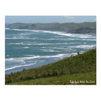 Postcard, Raglan Beach, New Zealand Postcard