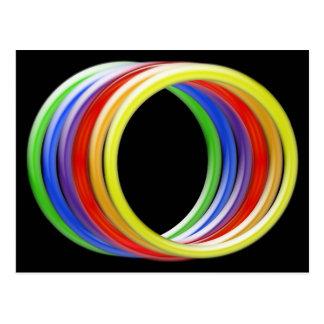 Postcard - Rainbow Rings