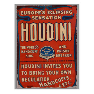 Postcard Reproduction Vintage Poster Houdin