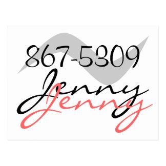 Postcard Retro Jenny 867-5309 for a good time call