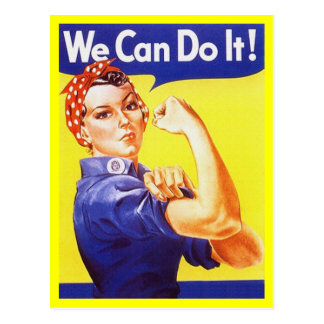 Postcard Rosie the Riveter Patriotic WWII War time