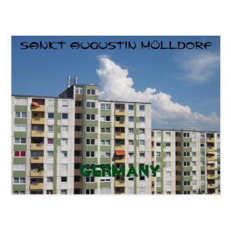 "Postcard ""sank Augustin garbage village Germany """