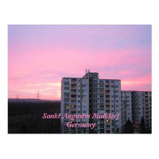 "Postcard ""sank Augustin garbage village"" rose sky"
