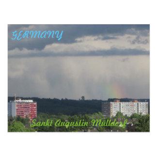 "Postcard ""sank Augustin garbage village"" small"
