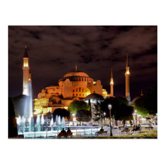 Postcard Santa Sofia Mosque in Istanbul, Turkey