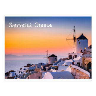 Postcard  Santorini Greece