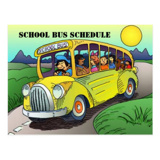 POSTCARD SCHOOL BUS ROUTE SCHEDULE PARENT REMINDER