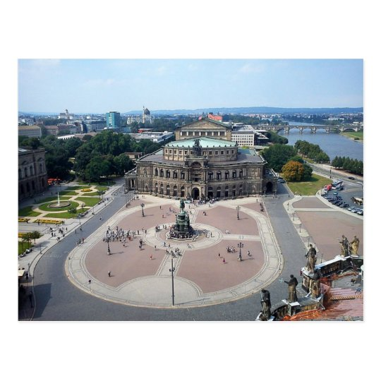 Postcard Semperoper in Dresden Germany