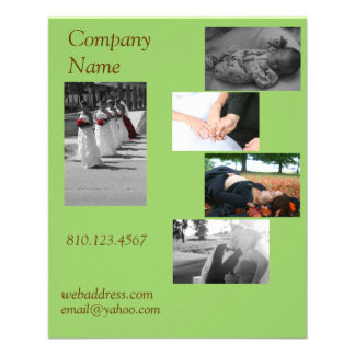 Postcard Size Business Card Full Color Flyer