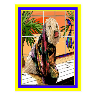 Postcard:  Soft Coated Wheaten Terrier At the Spa Postcard