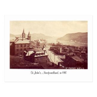 Postcard, St John's, Newfoundland, in 1910 Postcard
