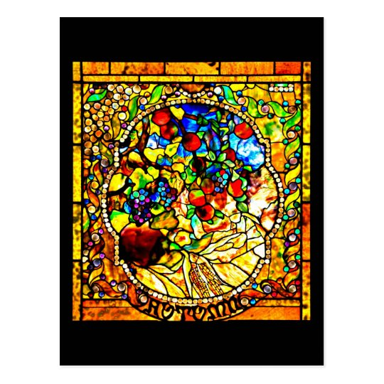 Postcard-Stained Glass-Louis Tiffany 12 Postcard