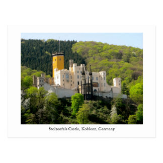 Postcard Stolzenfels Castle Schloss Germany UNESCO