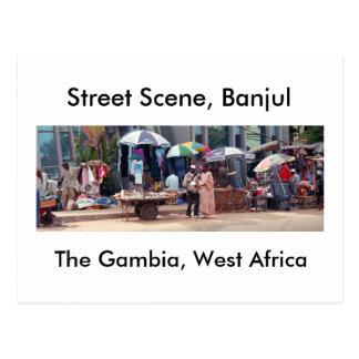 Postcard, Street Scene, Banjul Postcard