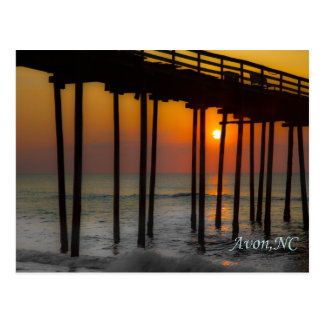 Postcard - Sunrise at the Pier, Avon, NC