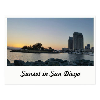 Postcard - Sunset in San Diego