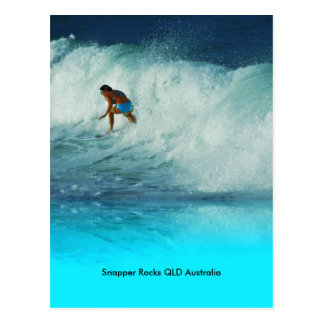 Postcard Surfer Girl Snapper Rocks QLD Australia