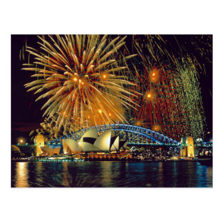 Postcard Sydney Operated House (Fireworks), Sydney