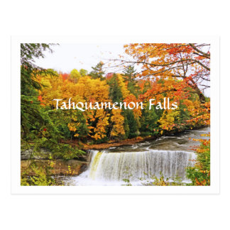 POSTCARD, TAHQUAMENON FALLS /FALL COLOR POSTCARD