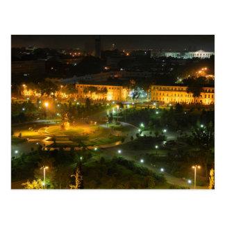 Postcard Tashkent by night, Uzbekistan