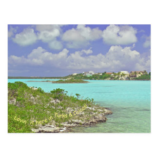"POSTCARD, ""TECHNICOLOR DAYS IN TURKS & CAICOS"" POSTCARD"