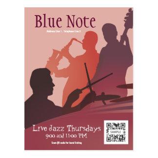 Postcard Template Event Jazz Band