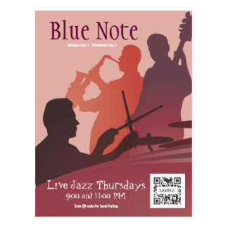 Postcard Template Event Jazz Band