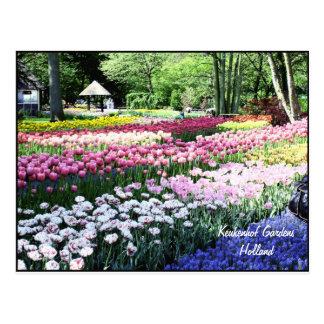 Postcard Template, floral gardens