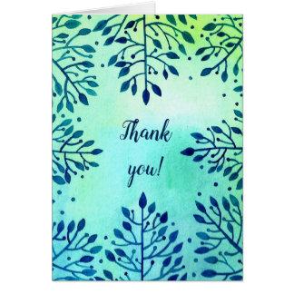 """Postcard """"thank you""""."""
